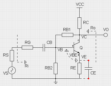 BJT - Common Emitter configuration with collector-base and